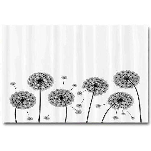 ScottDecor Nature Farmhouse Wall Art Sketchy Dandelions Flying Pollens Flowers Plants Image Artwork Image Print Gifts for Women who has Everything Black and White L12 x H18 Inch