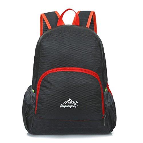 Rucksack Rcool Unisex Fashion Denim Travel Rucksack Taschen Schultasche Rucksack Casual Retro (Schwarz)
