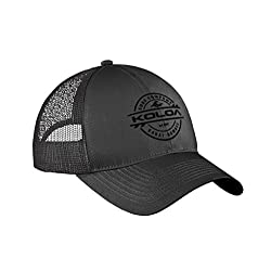 Koloa Surf Thruster Logo Old School Curved Bill Mesh Snapback Hat-Charcoal/b