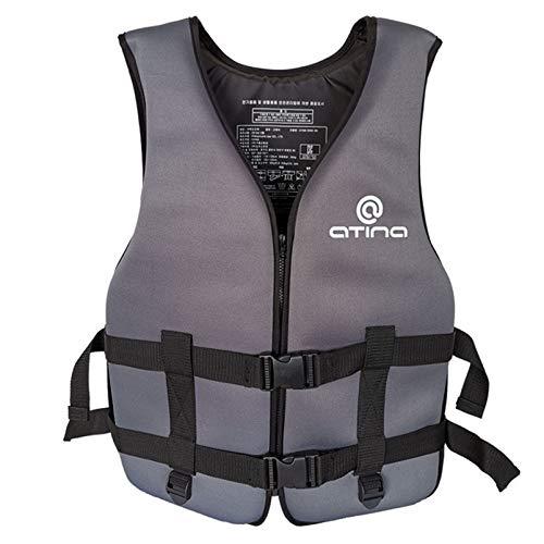 Yeah-hhi Adultos Profesionales Chaleco Salvavidas Neopreno Seguridad Vida Chaleco Rescate Wakeboard Drifebo Wakeboard Pesca Natación Jack,2,One Size