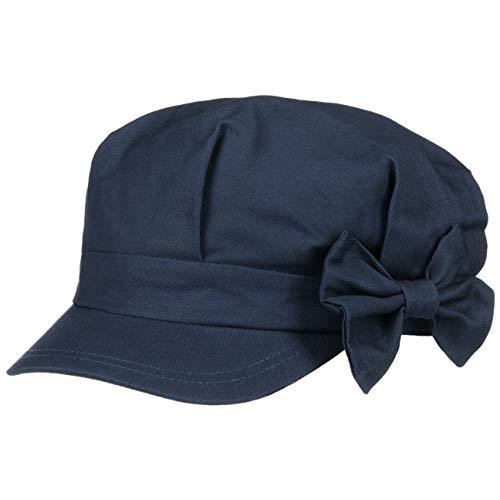 Seeberger Seeberger Edna Damen Newsboy Cap mit Schleife (One Size - blau)