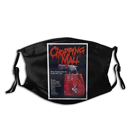 Chopping Mall 80s-Cult Classic Horror Movie Adjustable Unisex Reusable Face Mask Anti-Dust Mouth Scarf Balaclava Face Protection For Outdoor-1PCS-