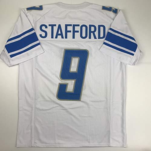 Unsigned Matthew Stafford Detroit White Custom Stitched Football Jersey Size XL New No Brands/Logos