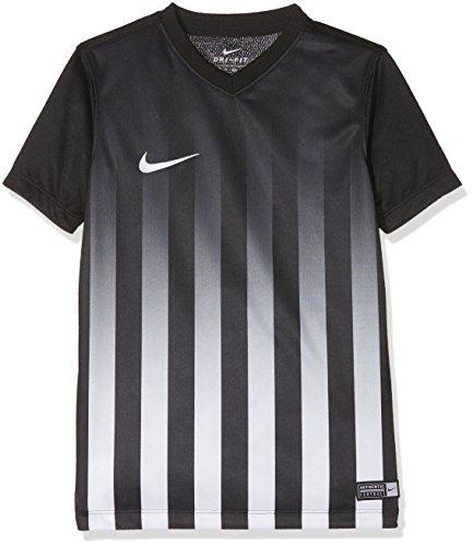NIKE SS YTH Striped Division II JSY Camiseta, Niños, Negro/Blanco (Black/White/White), XS