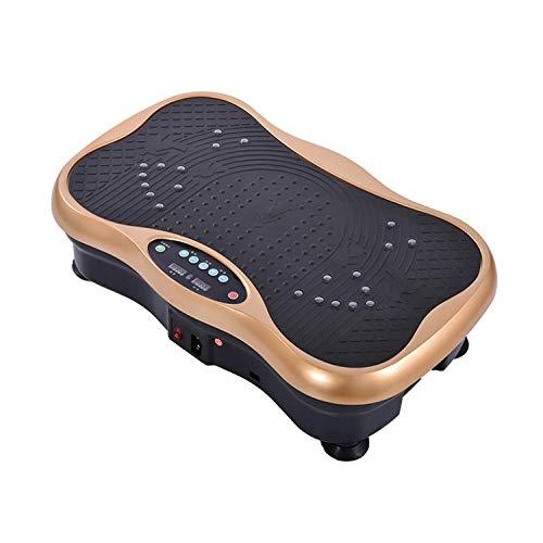 B/H Ultra Slim Power Vibrationsplatte,Körperformungsmaschine, Heimfitnessmaschine - lokales Gold,Vibrationsplatte Leicht zu Bedienen