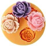 Mini Blumen Fondant Mold Silikon Zucker Harz Backformen Handwerk Formen DIY Kuchen dekoration (X101)