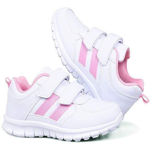 CGBF-Kinder Golf Shoes Leichte Golfschuh Jungen Im Freien Wasserdichten Breathable Anti-Skid Sport Wandern Shoes Turnschuhe,Rosa,36 EUR/4.5 UK/5.5 USA