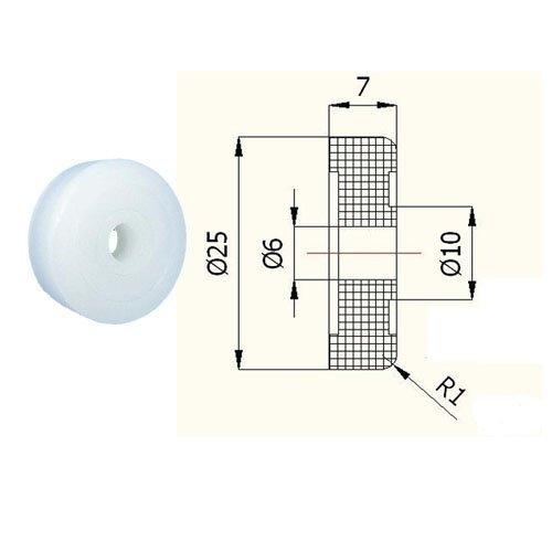 Zabi Kunststoff-Rollen Nylon für Schiebetore ohne Lager Ø 25mm