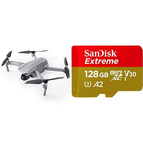 DJI Mavic Air 2 Drone Quadcopter UAV + SanDisk Extreme - Tarjeta de memoria microSDXC de 128GB con adaptador SD