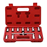 HERIS 12pcs Drain Plug Key Socket Set Axle Oil Sump Spanner 3/8' Drive Cars Vans Bikes