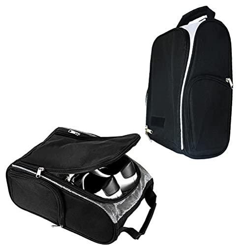 Fencelly Bolsa para zapatos de golf, resistente al desgaste, con tres bolsillos y función transpirable para mujeres y hombres