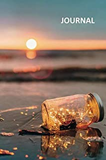 Journal: Lights in a jar Charming Bullet Journal Dot Grid Daily Planner Student for notes on beach honeymoon packing list