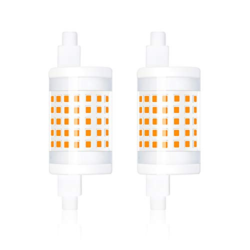 R7s LED Lampe 10W 78MM Dimmbar Keramikkörper 220V 1000Lumen Warmweiß 3000K Stableuchte Mit SMD2835 LEDs Röhre 360° Ersatz für 100W Halogenlampe Fluterlicht für Stehleuchten Deckenleuchten (2 Stück)