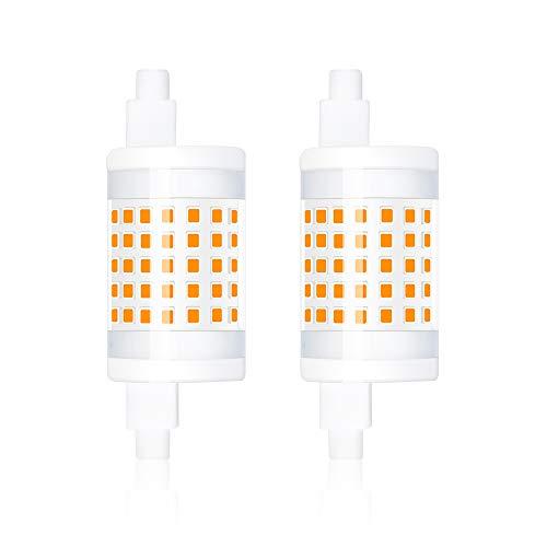 Bonlux R7s LED-Röhre 10W Dimmbar 78mm 1000Lumen Kühlweiß 6000K Doppelende Flutlicht 220V J78 Maislampe Äquivalent zu 100W Halogenlampe für Werkstattbeleuchtung(2 Stück, Dimmbar)