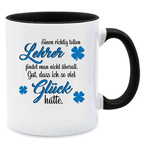 Tasse Berufe - Einen richtig tollen Lehrer findet Man Nicht überall - Unisize - Schwarz - Tasse - Q9061 - Kaffee-Tasse inkl. Geschenk-Verpackung