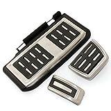 NIUASH Cubiertas de la Almohadilla del reposapiés del Pedal del Acelerador del Freno del Embrague del Coche en 3 unids/Set, para VW/Golf 7 GTI MK7 / Skoda/Octavia A7 / Audi A3 8V / Passat