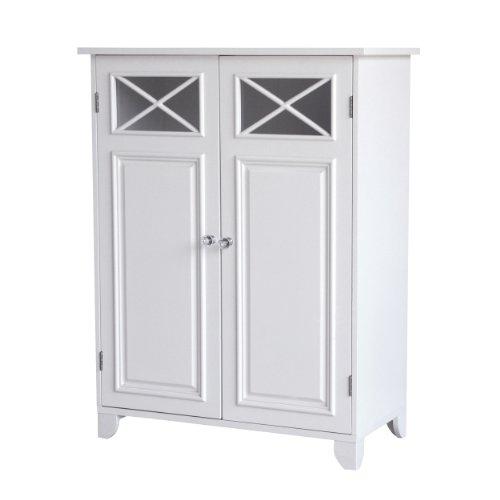 Elegant Home Fashions Dawson Bathroom Cabinet, STORAGE, White