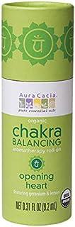 Aura Cacia Organic Chakra Balancing Roll-On, Opening Heart, 0.31 fluid ounce