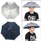 DAUERHAFT Buen Paraguas para la Cabeza con protección UV, para conciertos de Pesca