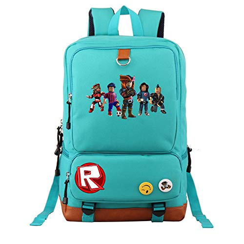 NINIUBAL Unisex Roblox Estudiantes School Bag Mochila Casual Mochila de Colegio Viaje Mochilas para Deportes y Aire Libre Impresión Fashion Mochilas