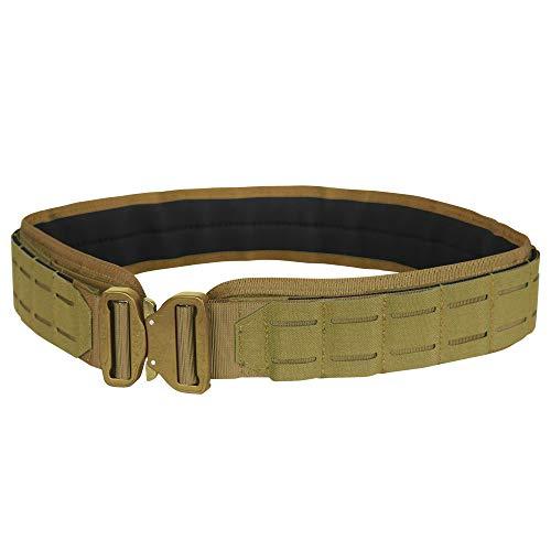 """Condor LCS Cobra Tactical Gun Belt (Coyote Brown, Small/Medium: 34.5""""-38.5"""" Long, Waist 30""""-32"""")"""