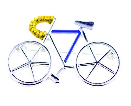 Lizzyoftheflowers – Spilla Argentata a Forma di Bicicletta