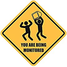 LA STICKERS You are Being Monitored - Sticker Graphic - Auto, Wall, Laptop, Cell, Truck Sticker for Windows, Cars, Trucks