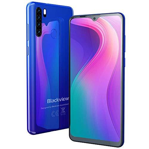 """Smartphone Offerta, Blackview A80 Pro Cellulari Offerte (2020), 6.49"""" 19:9 HD+ Schermo, Helio P25 Octa-core 4GB RAM 64GB ROM, 4680mAh, Fotocamera 13MP+8MP+0.3MP+0.3MP, 4G Android 9.0, Dual SIM-Blu"""