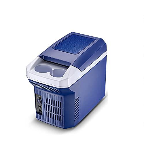 QPMY Refrigerador pequeño, Mini refrigerador, frío y Caliente de Doble propósito, súper Gran Capacidad, silencioso, refrigerador Horizontal para automóvil, refrigerador pequeño