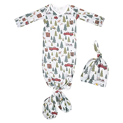 NC Saco de dormir para bebê Saco de dormir infantil Saco de dormir de algodão do nascimento aos 12 meses - Árvore