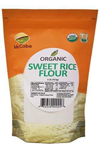 McCabe Organic Sweet Rice Flour, 1 lb (16 oz)