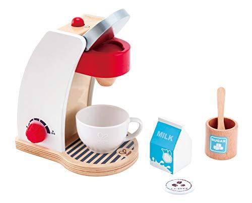 Hape E3146 - Meine Kaffeemaschine, Zubehör für Kinderküche und Kaufladen, aus Holz