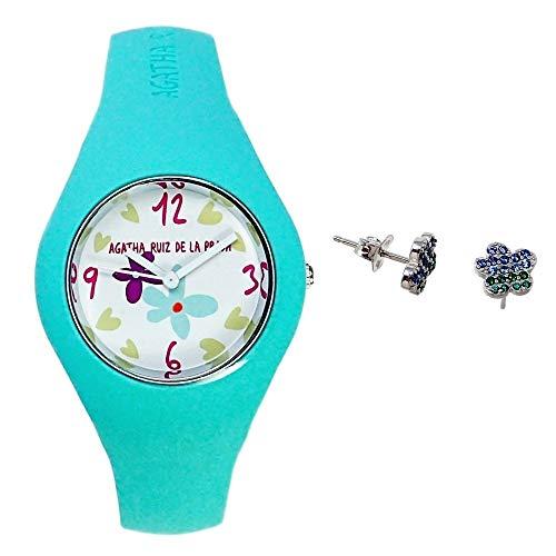 Juego Agatha Ruiz de la Prada reloj AGR225 pendientes plata [AB9352] - Modelo: AGR225