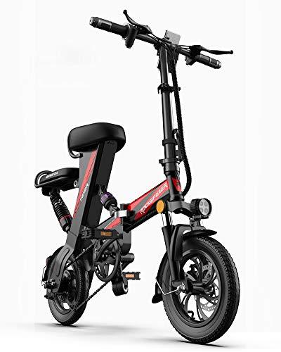 GUOJIN Bicicleta Electrica Plegables 250W Motor Bicicleta Plegable 25 Km/H, con Ruedas...