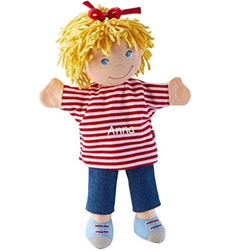 HABA Handpuppe Conni mit Namen Bestickt, Meine Freundin Conni Figur Puppentheater Kasperletheater Spielfigur 304348