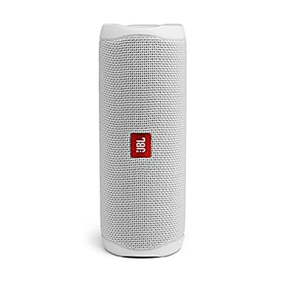 JBL Flip 5 Portable Bluetooth Speaker with Rechargeable Battery, Waterproof, PartyBoost Compatible, Steel White from Harman
