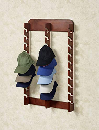 Touch of Class Wooden Cap Display Rack, Classic Cherry,...