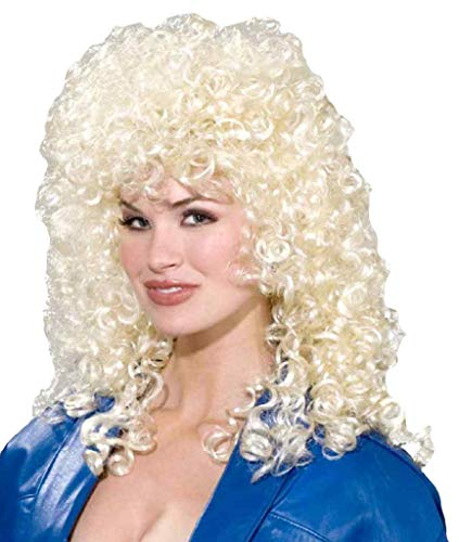 Forum Novelties Women's 80's To The Maxx Wild Curl Wig, Blonde, One Size