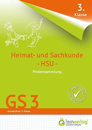 Übungsheft mit Probensammlungen Grundschule Heimat- und Sachkunde 3. Klasse