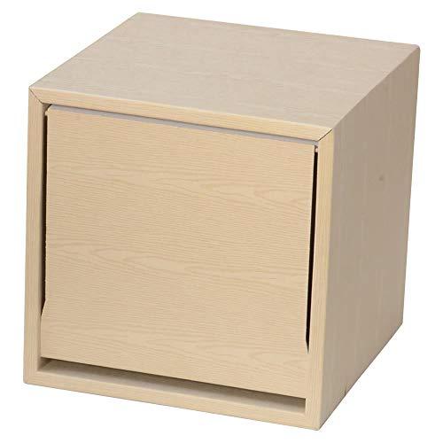 キューブラック ウッドシリーズ 1ヶ入り (アイボリー) 軽量家具ブランドGravif(グラヴィフ) ダンボール製