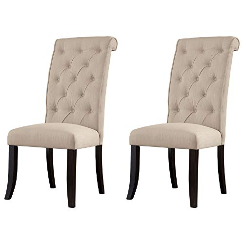 Signature Design by Ashley Tripton Dining Room Chair, Linen