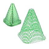 Relaxdays Pflanzenhut, 24 Stück, Schneckenschutz, Frostschutz, Wachstumshilfe, transparent, HBT 22x19x19 cm, PVC, grün