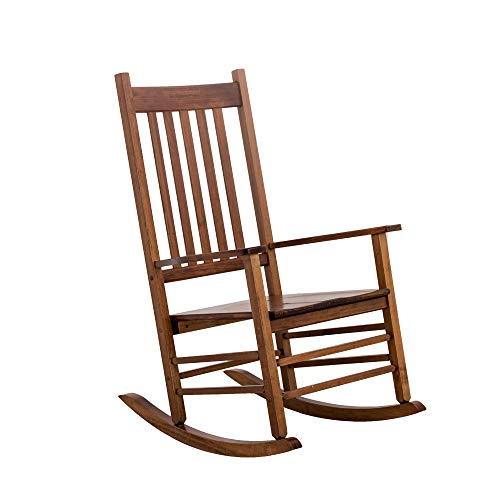 B&Z KD-25N Rocking Chair Wooden Porch Heirloom Rocker Flat Plate Natural Oak