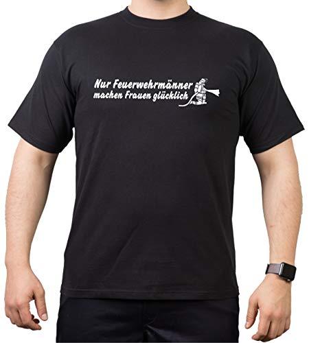 feuer1 T-Shirt Noir « Nur Feuerwehrwehrwehrwehrmann » pour Femme XL Noir