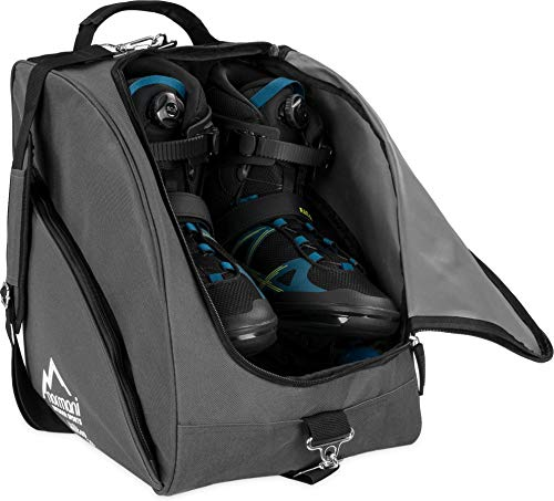 normani Inlinertasche Skatertasche Rollschuhtasche Skatertasche Hockeytasche Tragetasche mit praktischen Fächern 45 Liter Farbe Anthrazit