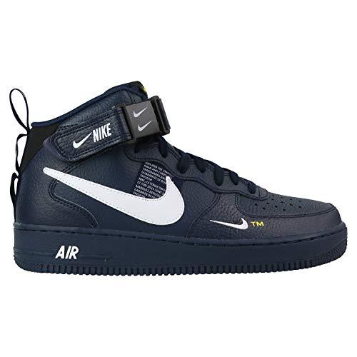 Nike Air Force 1 Mid '07 LV8, Zapatillas de Deporte para Hombre, Multicolor (Obsidian/White/Black/Tour Yellow 403), 38.5 EU