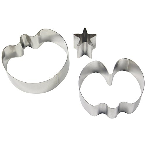 PME Stainless Steel Sweet Pea Cutters, Medium Size, Set of 3