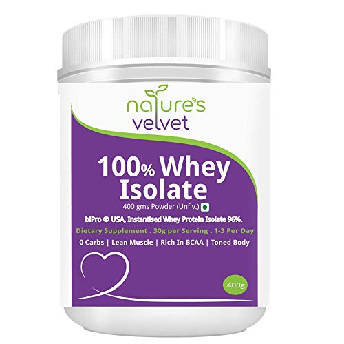 Whey Isolate Protein Powder BiPro 400g Unflavoured All Natu