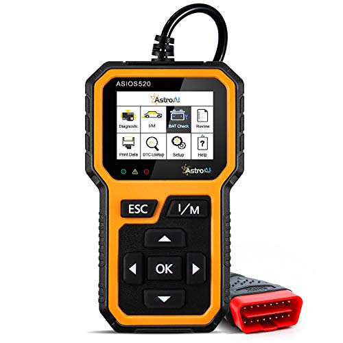 AstroAI Multi-Functional OBD2 Scanner, BAT Check, Auto OBDII Check Engine Car Code Reader Diagnostic Tool-Error Code with Description