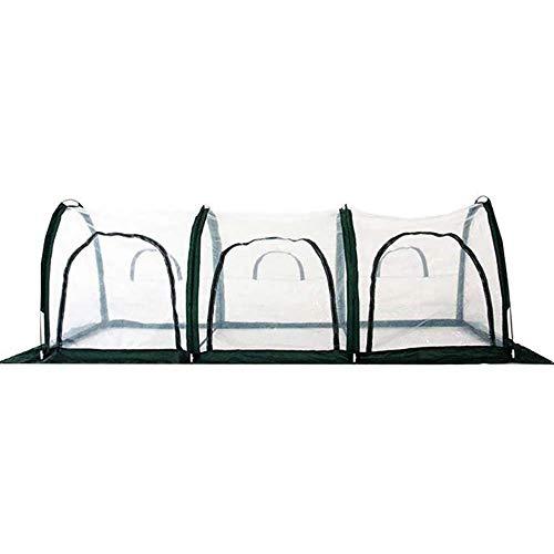 TMIL Faltbare Transparent Pflanzen Zelt, Blume Gewächshäuser, Regendicht, Atmungsaktiv, Für Außen Und Innen Gärtner Pflanzen, 300X100x100cm